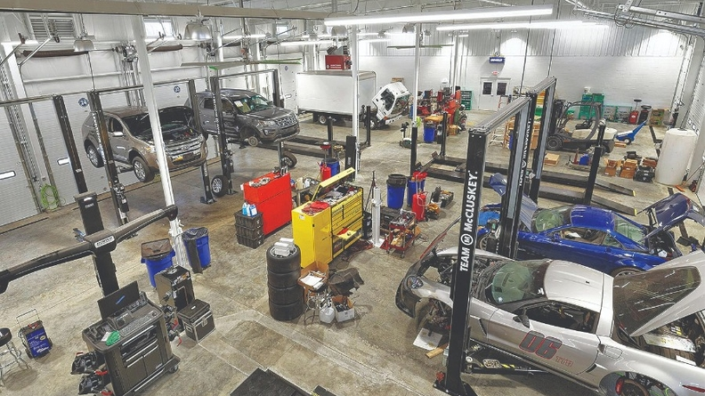 """Keith McCluskey says the 50,000-square-foot center near his Chevrolet dealership in Cincinnati gives him the """"opportunity to acquire and recondition and stock and sell more vehicles."""""""