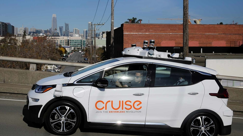 A Cruise self-driving car