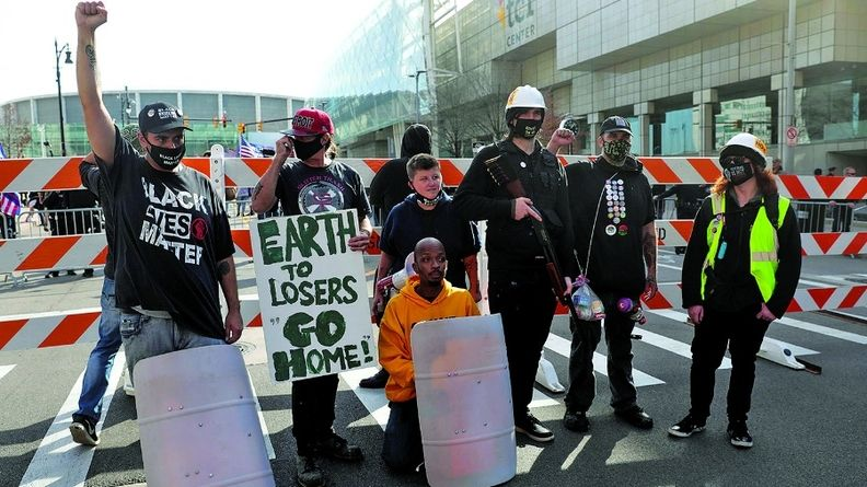 The TCF Center never hosted a Detroit auto show, but it did witness post election protests.