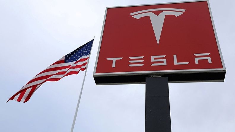 A Tesla sign in New Jersey