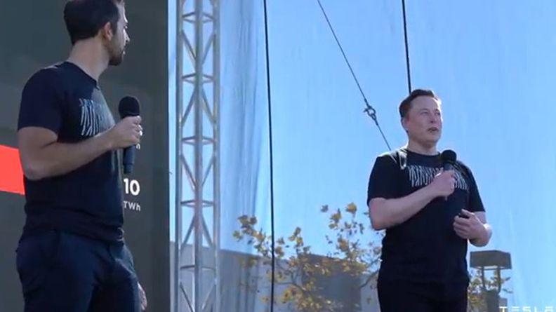 Elon Musk at Tesla's Battery Day presentation