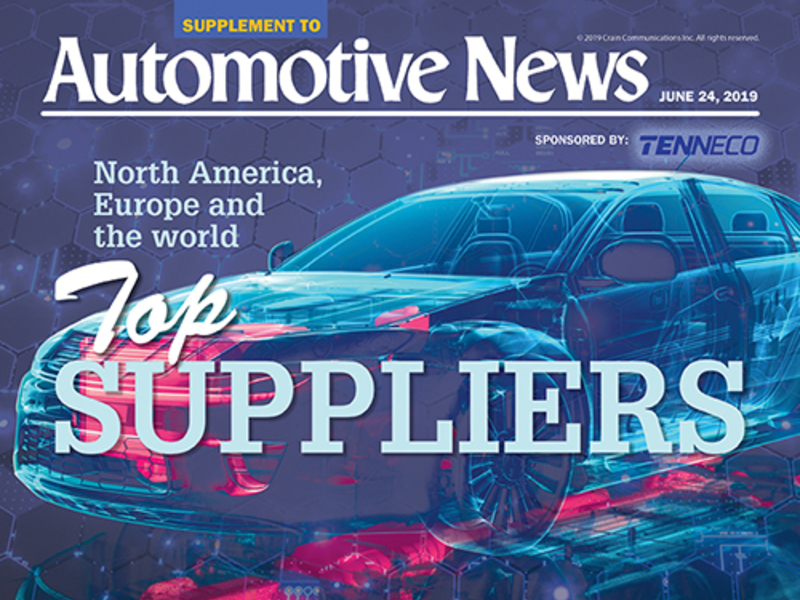 Here's our latest list of the biggest parts suppliers