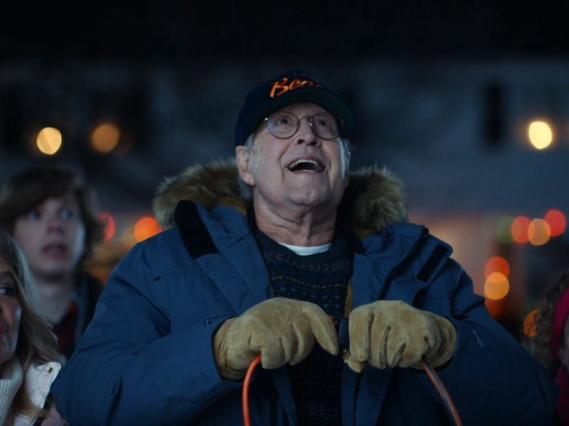 Watch Chevy Chase reprise Clark Griswold in holiday ad for Ford's electric Mustang