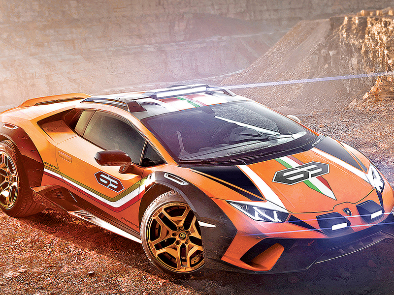 Lamborghini concept is part supercar, part off,roader
