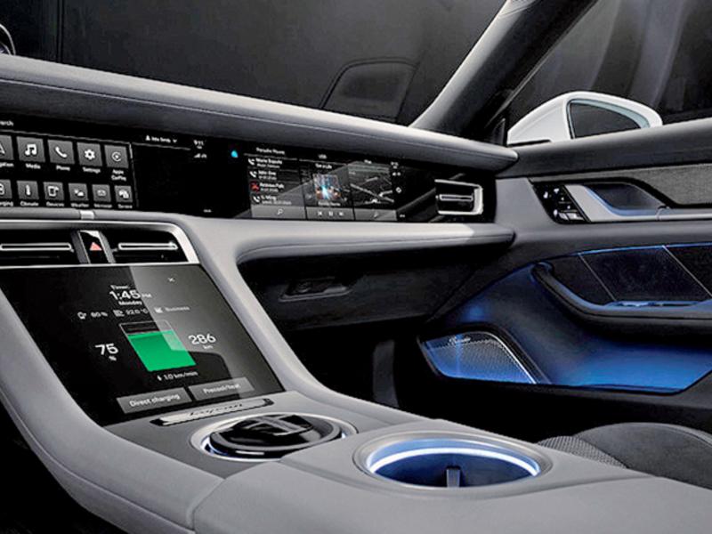 Porsche designs a button-free dash for EV
