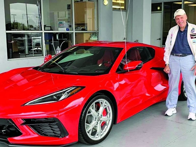For 90th birthday, Chuck Cook gets a 4th Corvette