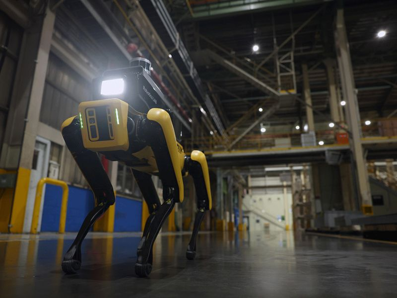 Hyundai builds better guard dog with canine robot to patrol Kia factory thumbnail