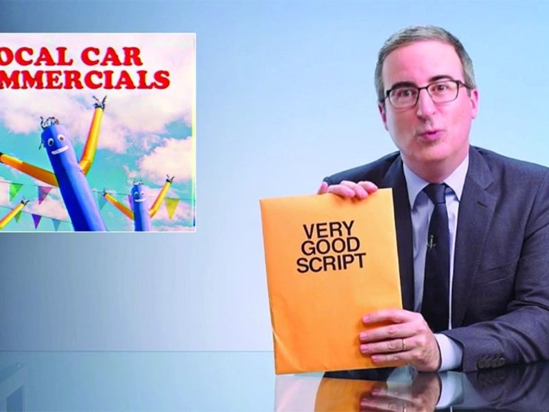John Oliver's free ad script comes with a big catch