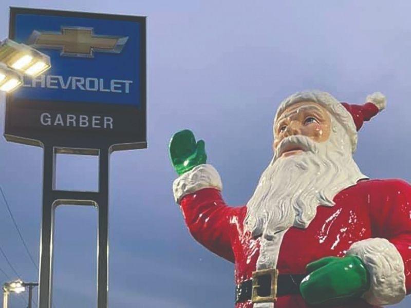 Santa's back at Garber Chevrolet Highland dealership