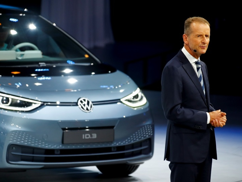 Volkswagen CEO aims to catch Tesla in EV race
