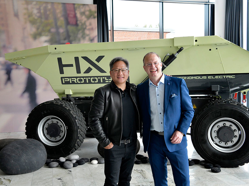 Nvidia partners with truckmaker AB Volvo for driverless AI