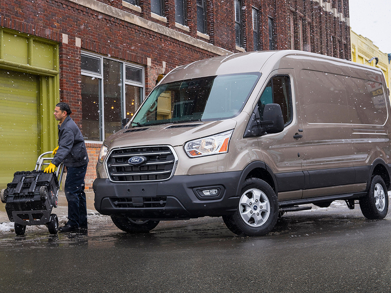 freshened  ford transit   engines awd option