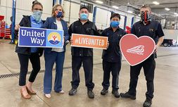 Bergstrom Buick-GMC-Cadillac of Green Bay donates time, money and love to benefit the United Way.