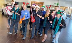 Bergstrom Cadillac of Madison does a holiday song and dance.
