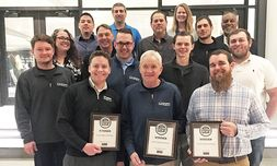 Employees at the Columbia Daily Tribune awards banquet, where Columbia Honda received multiple awards, including best dealership