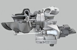 Garrett Motion e-turbo for hybrid powertrains