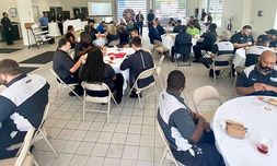 Monthly employee appreciation luncheon, before Covid-19