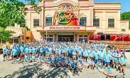 The company trip to Dollywood theme park in Pigeon Forge, Tenn.