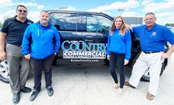 From left, Tony Walus, commercial manager, Luke Hilger, commercial sales, Kate Durieg, assistant, and Sean Lane, commercial sales