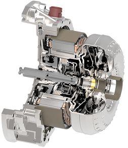 Schaeffler P2 hybrid module for rear-wheel-drive transmissions