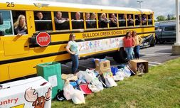 Garber Chevrolet Midland's Stuff the Bus event collected donated school supplies for the Educational Service Agency.