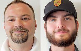 Service Manager Dave Eschbaugh, left, says Nico Grolimund's confidence grew.