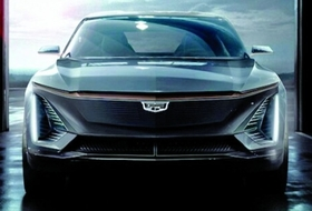Cadillac will reveal its first electric vehicle in April.