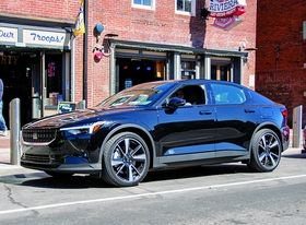 Earth Rides' fleet includes a Polestar 2. Unlike larger rivals, the startup owns or leases vehicles.