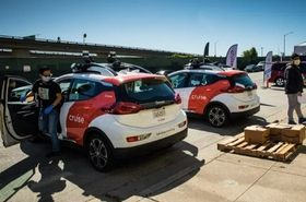 Cruise autonomous vehicles, with two backup drivers, are delivering meals in San Francisco.