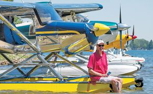 Pilot flys PPE to needed areas