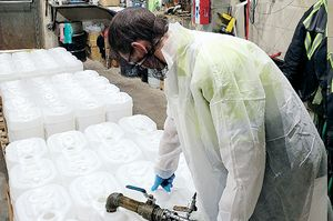 Chemicals maker pivots to sanitizer