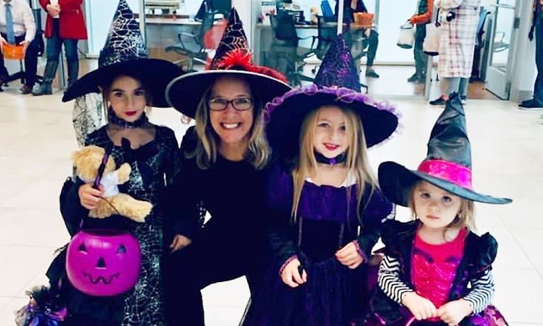 At the dealership's trunk-or-treat, employees dressed up, and customers brought in children for trick-or-treating.