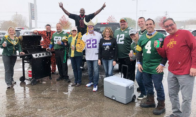 Bergstrom Chrysler-Dodge-Jeep-Ram of Oshkosh celebrates Green Bay Packers Spirit Day.