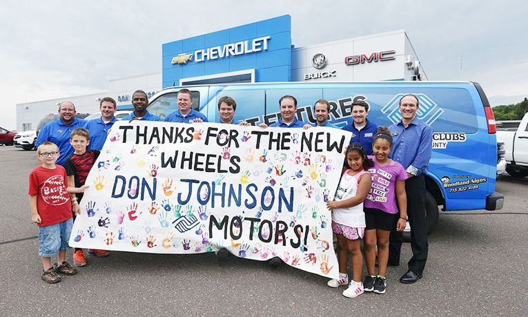 The dealership supports the local Boys & Girls Clubs through the use of a van to transport kids.