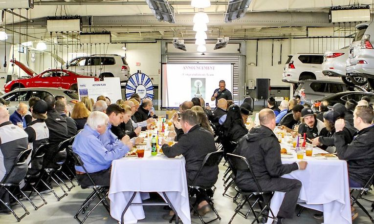 Monthly luncheons promote fellowship, highlight community involvement and celebrate birthdays, anniversaries and milestones.
