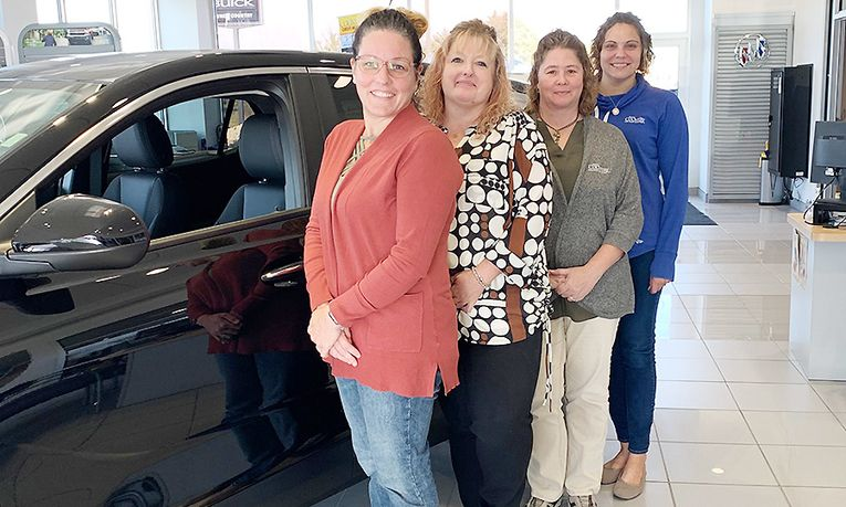 From left, Office Manager Tami Remmers, Assistant Office Manager Rhonda Smith, Receptionist Angie Ricketts and Title Clerk Sara Hutmacher