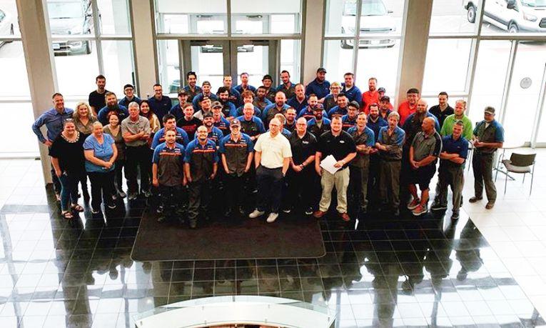 Larry H. Miller Ford-Lincoln Draper's service team.