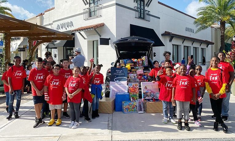 Lamborghini Broward had a holiday toy drive for the Boys & Girls Clubs of Broward County.