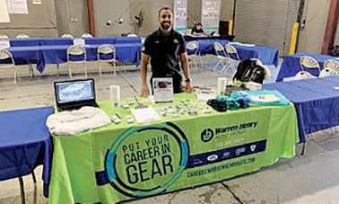 Technician Dylan Ramjohn represented Warren Henry Infiniti at a job fair.