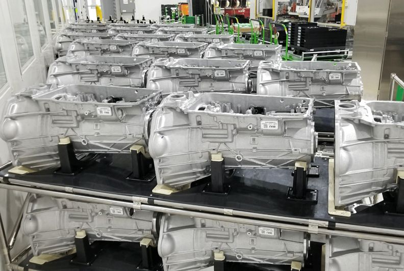 GM's Romulus, Mich., plant produces 10-speed transmissions.
