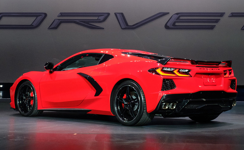 2020 corvette rear quarter panel driver