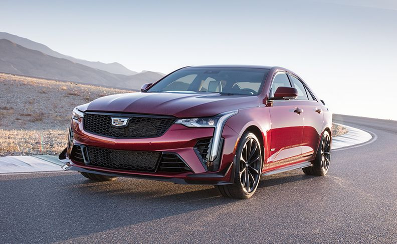 2022 Cadillac CT4-V Blackwing front driver side in motion