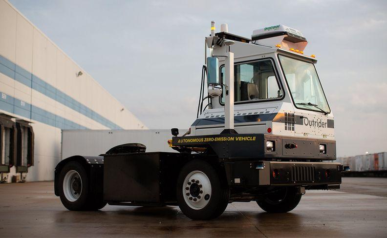 Outrider's autonomous yard truck