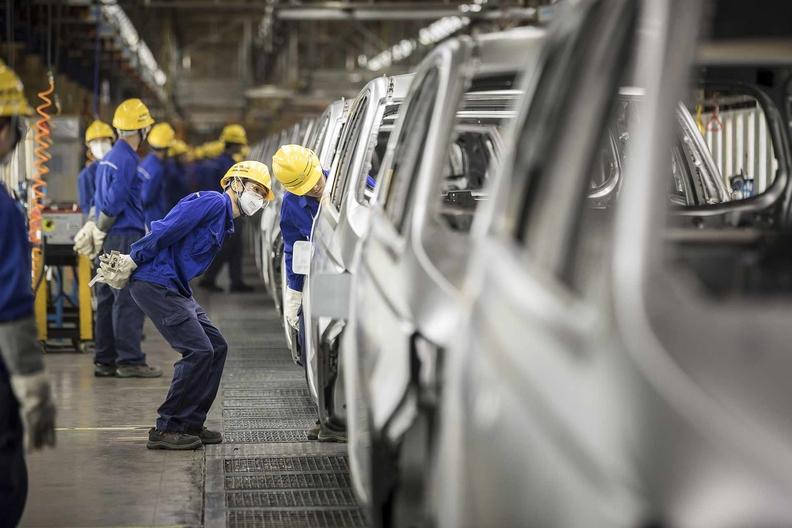 China auto plant