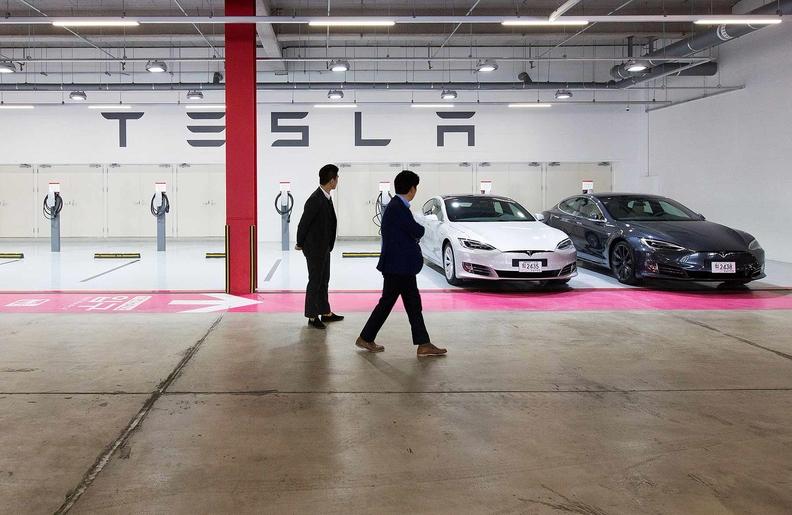 Tesla China showroom