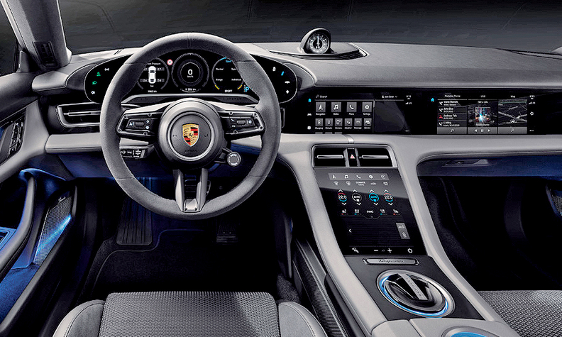 Off Road Design >> Porsche designs a button-free dash for Taycan EV