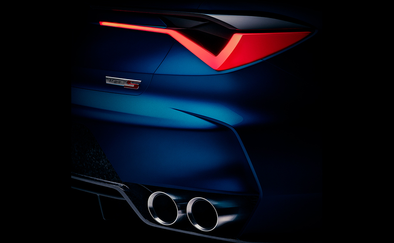 Honda's Acura brand released a teaser photo of the Type S Concept that shows the right rear section with badging and dual exhausts pipes, and an eight-second video reveals the front grille, headlights and carlike silhouette.