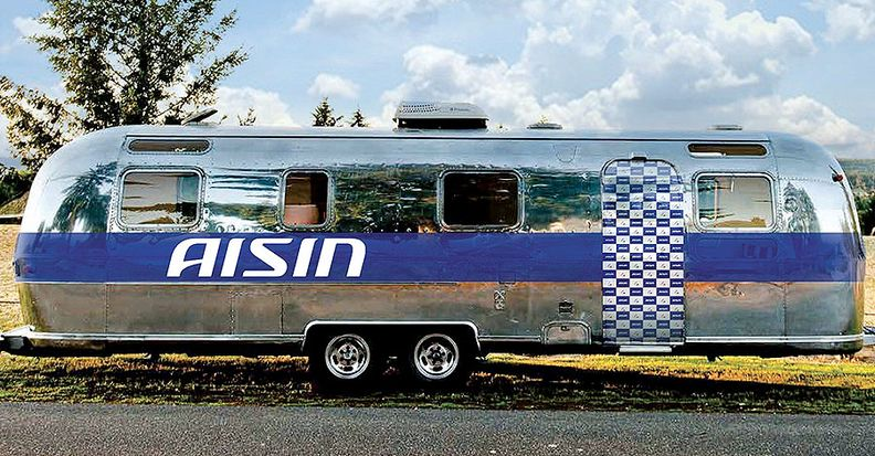 Aisin's trailer is part of its recruitment effort.