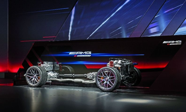 The hybrid Mercedes-AMG's powertrain delivers more than 804 hp.