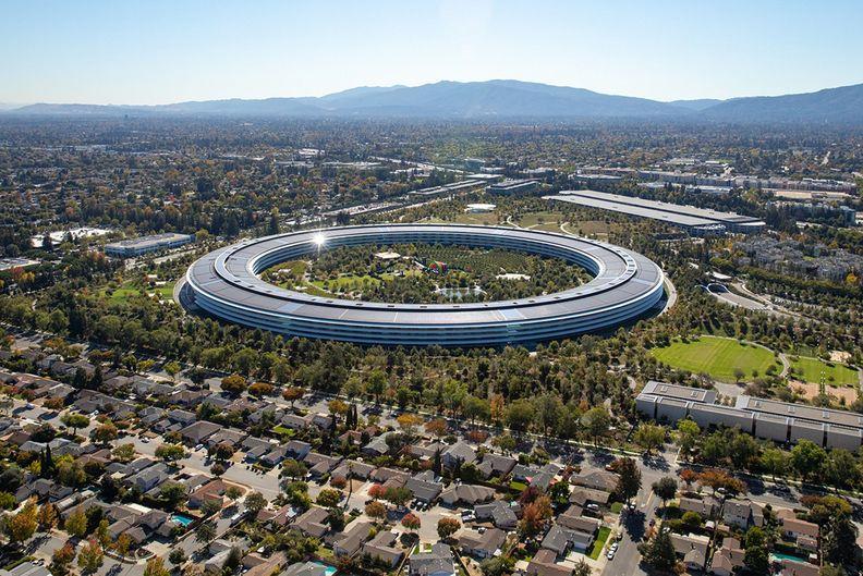 Apple headquarters in California